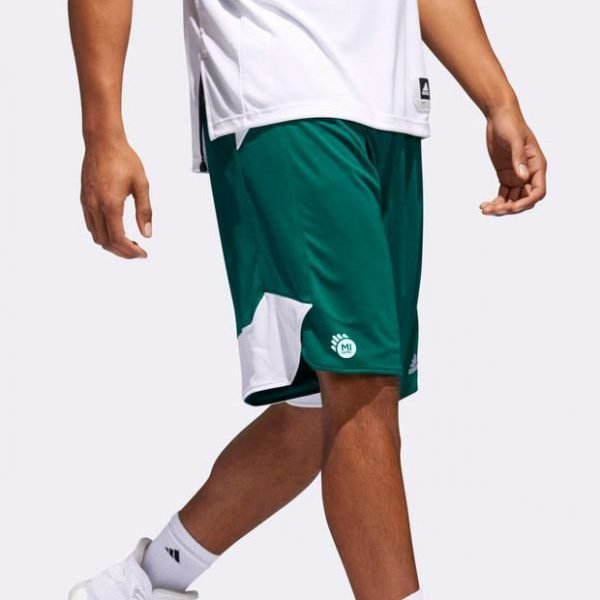 Pantaloncini da gioco Mi Games adidas Basket - verdi