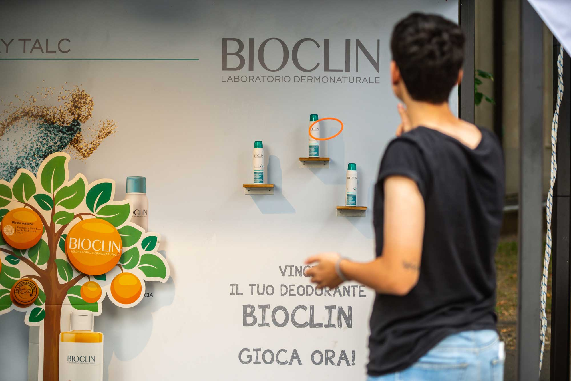 Bioclin - Mi Games 2019 - stand con attività dedicata